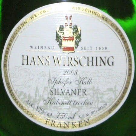 Il Vino del giorno: Silvaner 2008