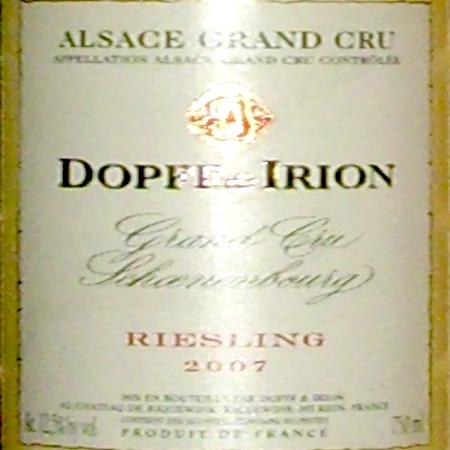 Il Vino del giorno: Schoenenbourg Riesling 2007