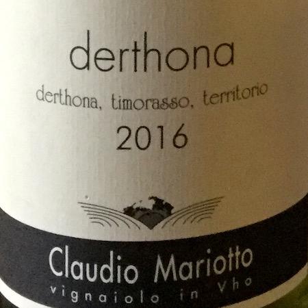 Il Vino del giorno: Derthona 2016