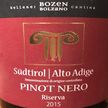 Il Vino del giorno: Pinot Nero Riserva 2015